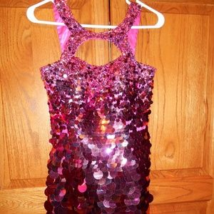 NWT Sherri Hill Formal Dress Sz 2 Fuchsia Sequins